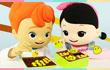 凯利和玩具朋友们 第242集 筷子夹豆豆玩具游戏